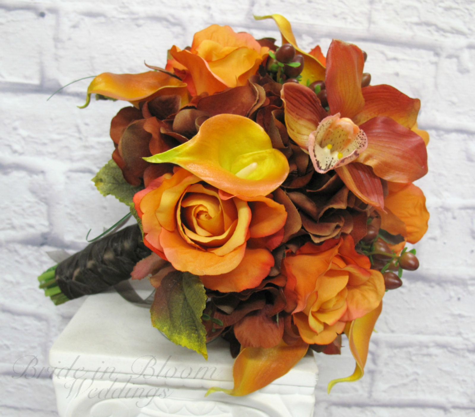Fall Wedding Bouquet Bride In Bloom