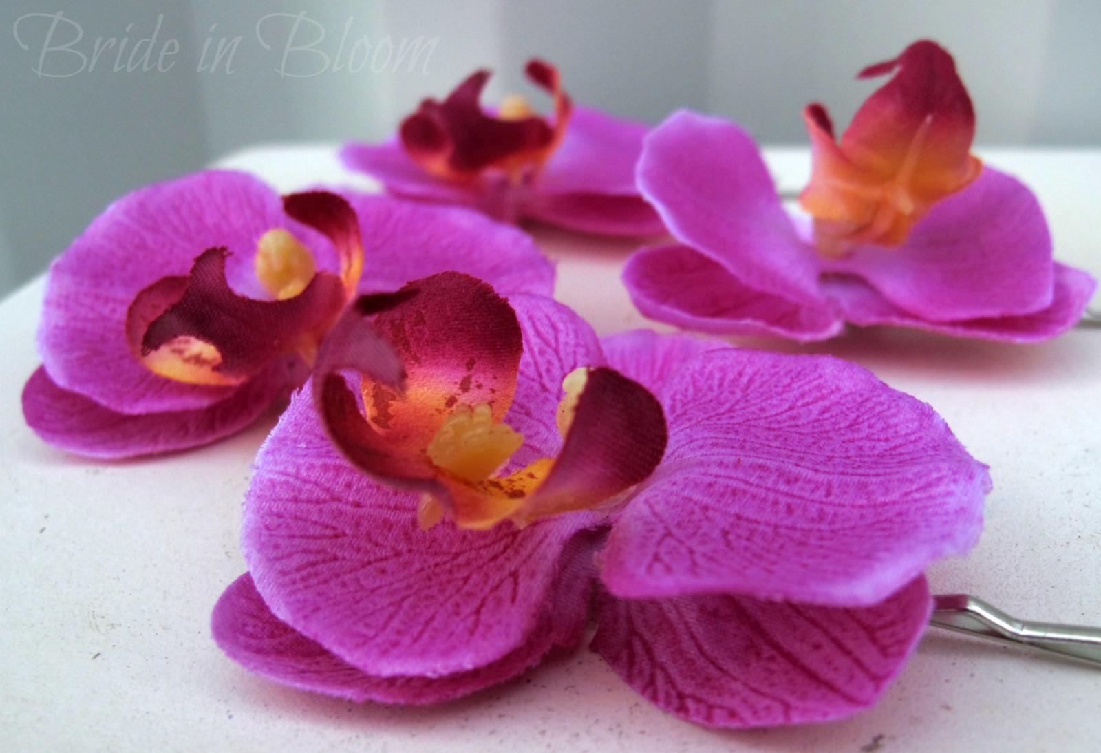 Wedding Hair Accessories Lavender Orchid Bridal Hair Pins Bride In