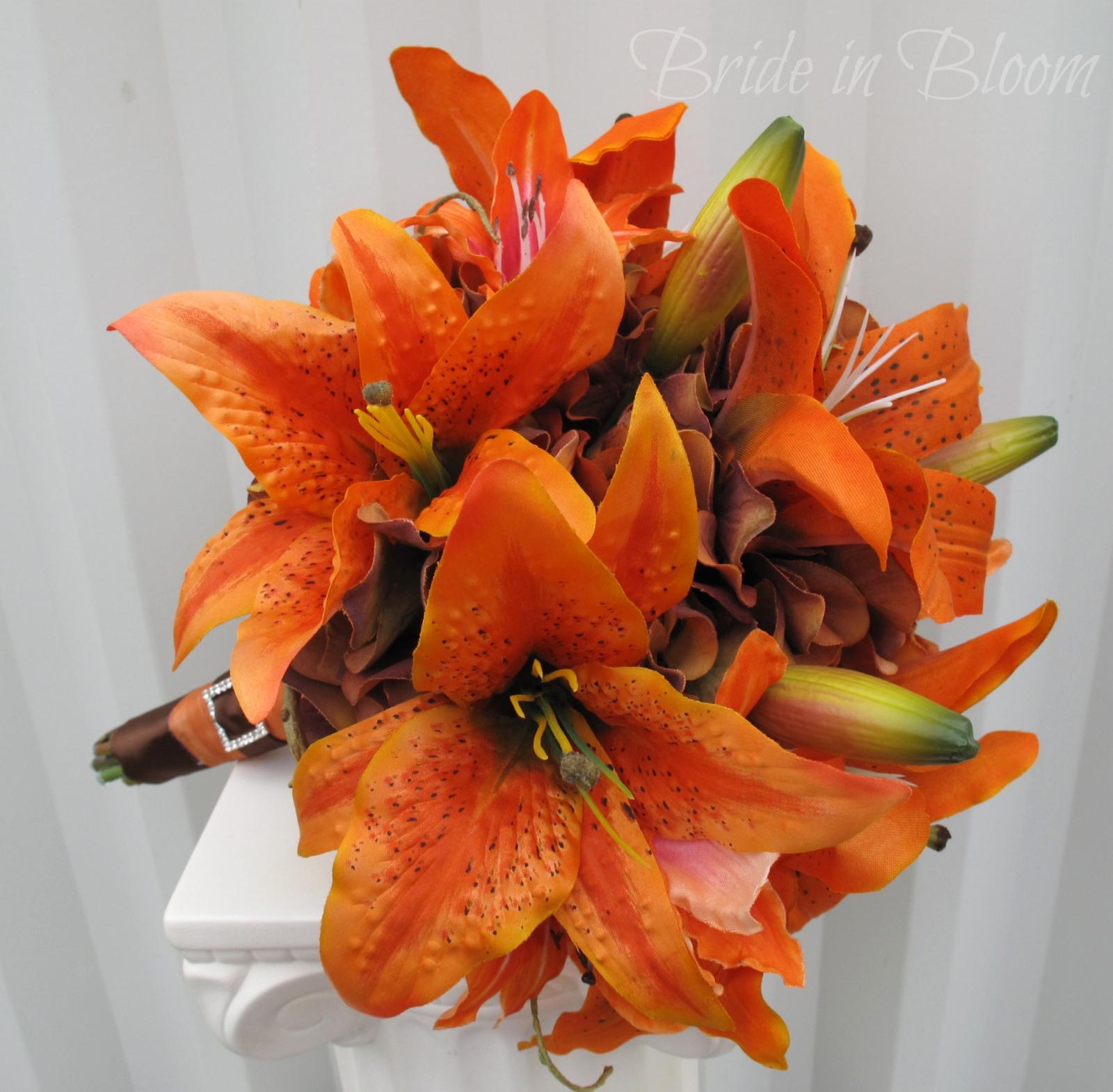 Tiger lily wedding bouquet silk bridal bouquet bride in bloom tiger lily wedding bouquet silk bridal bouquet izmirmasajfo