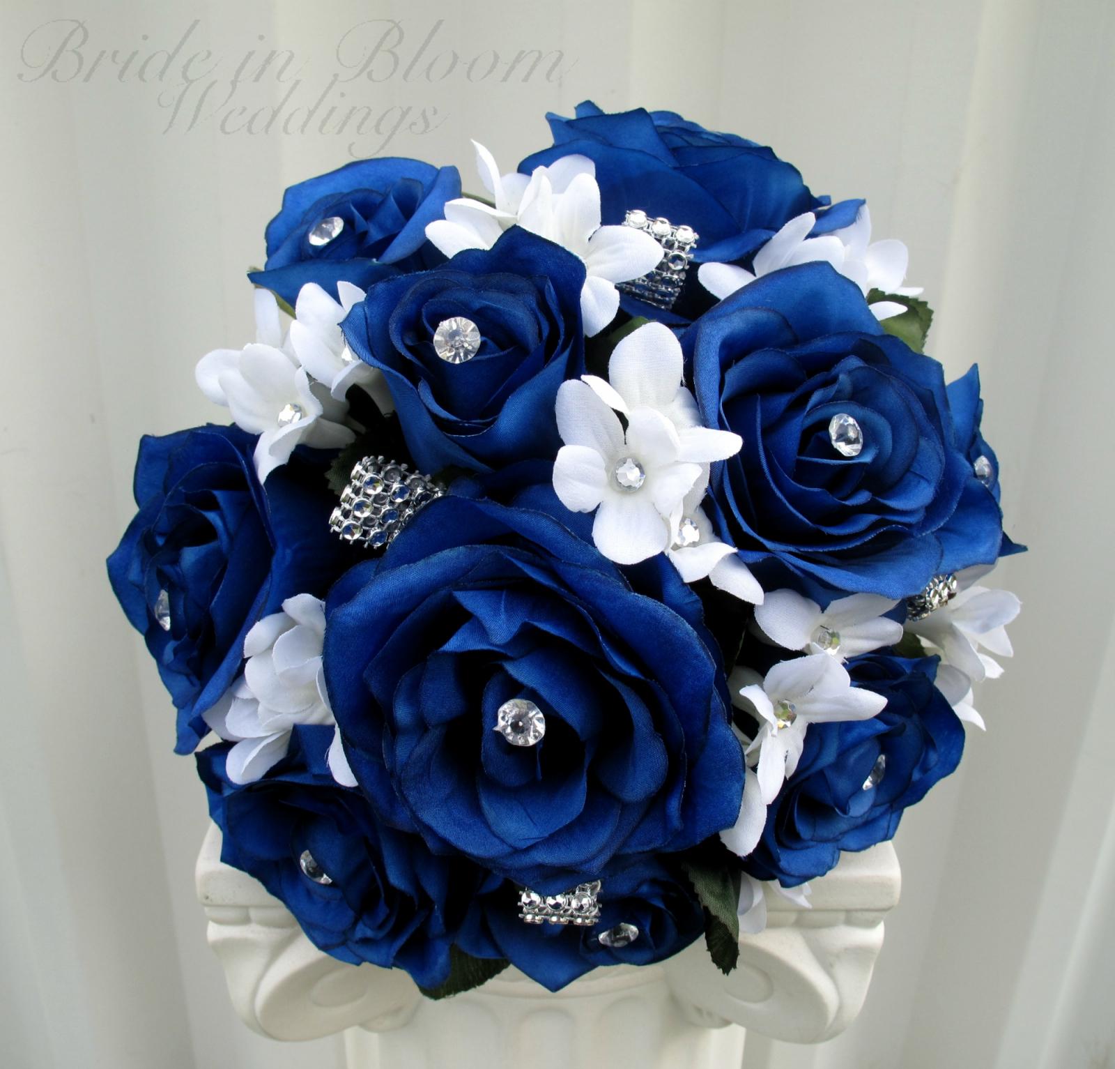 Blue Rose Wedding Bouquet Bride In Bloom