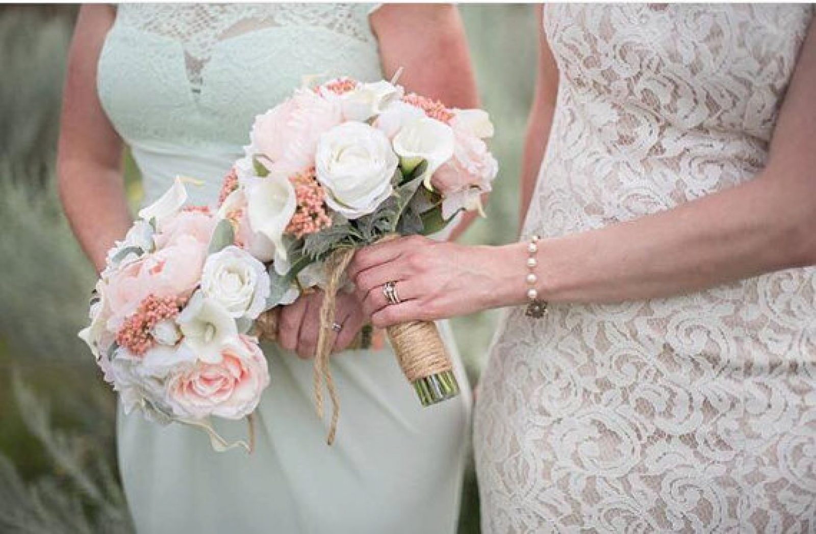 Peony wedding bouquet - Coral and cream Bridal bouquet - Silk ...
