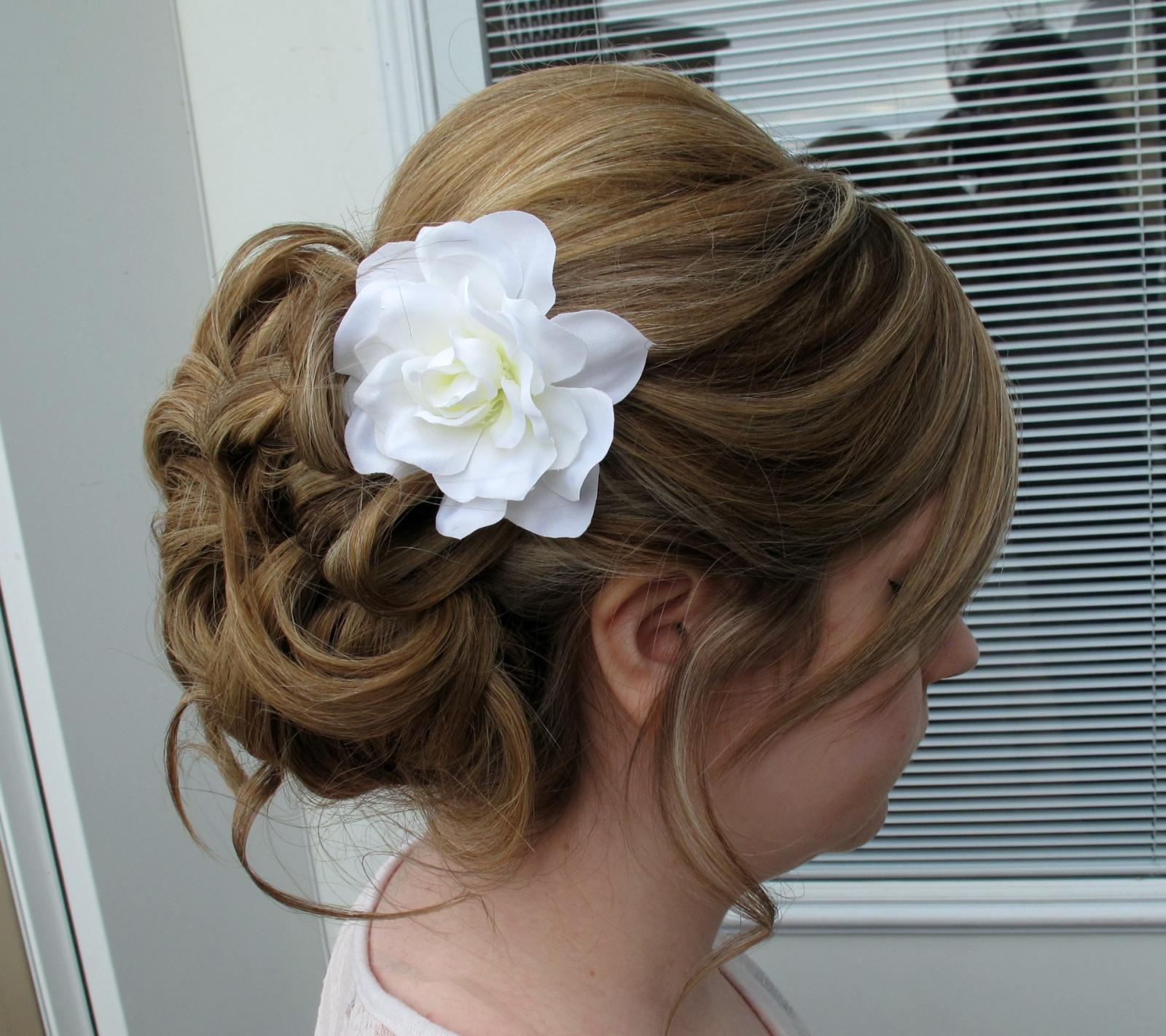 Wedding Hair Accessories White Gardenia Bridal Hair Clip Bride In