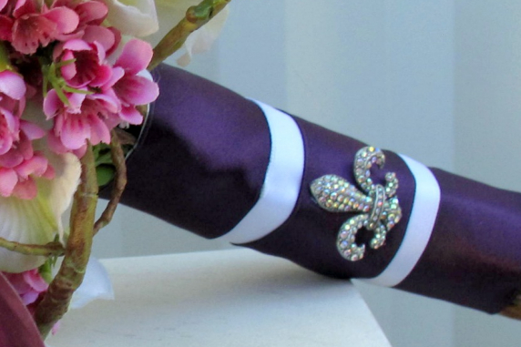 Purple lavender Wedding bouquet calla lily orchid silk wedding flowers