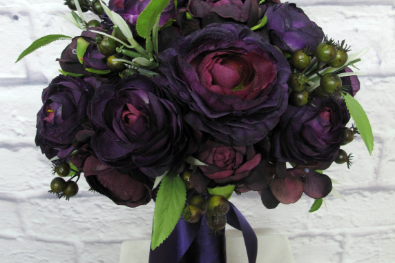 Purple ranunculus Wedding bouquet