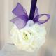 Wedding pomander Purple and white Kissing ball
