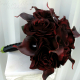 Red black velvet rose bouquet