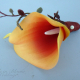Orange calla lily boutonniere