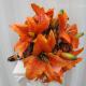Tiger lily Wedding Bouquet silk bridal bouquet