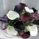 Dark plum purple white calla lily Wedding bouquet