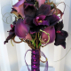 Plum orchid calla lily wedding bouquet