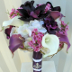 Purple lavender Wedding bouquet calla lily orchid silk wedding flowers