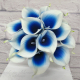 Royal blue Picasso calla lily wedding bouquet