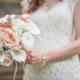Rustic peony wedding bouquet