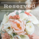 Reserved wedding order