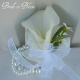 Calla lily wrist corsage ivory or white pearl bracelet