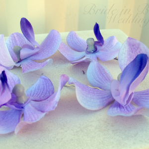 Wedding hair accessories Lavender orchid bobby pins