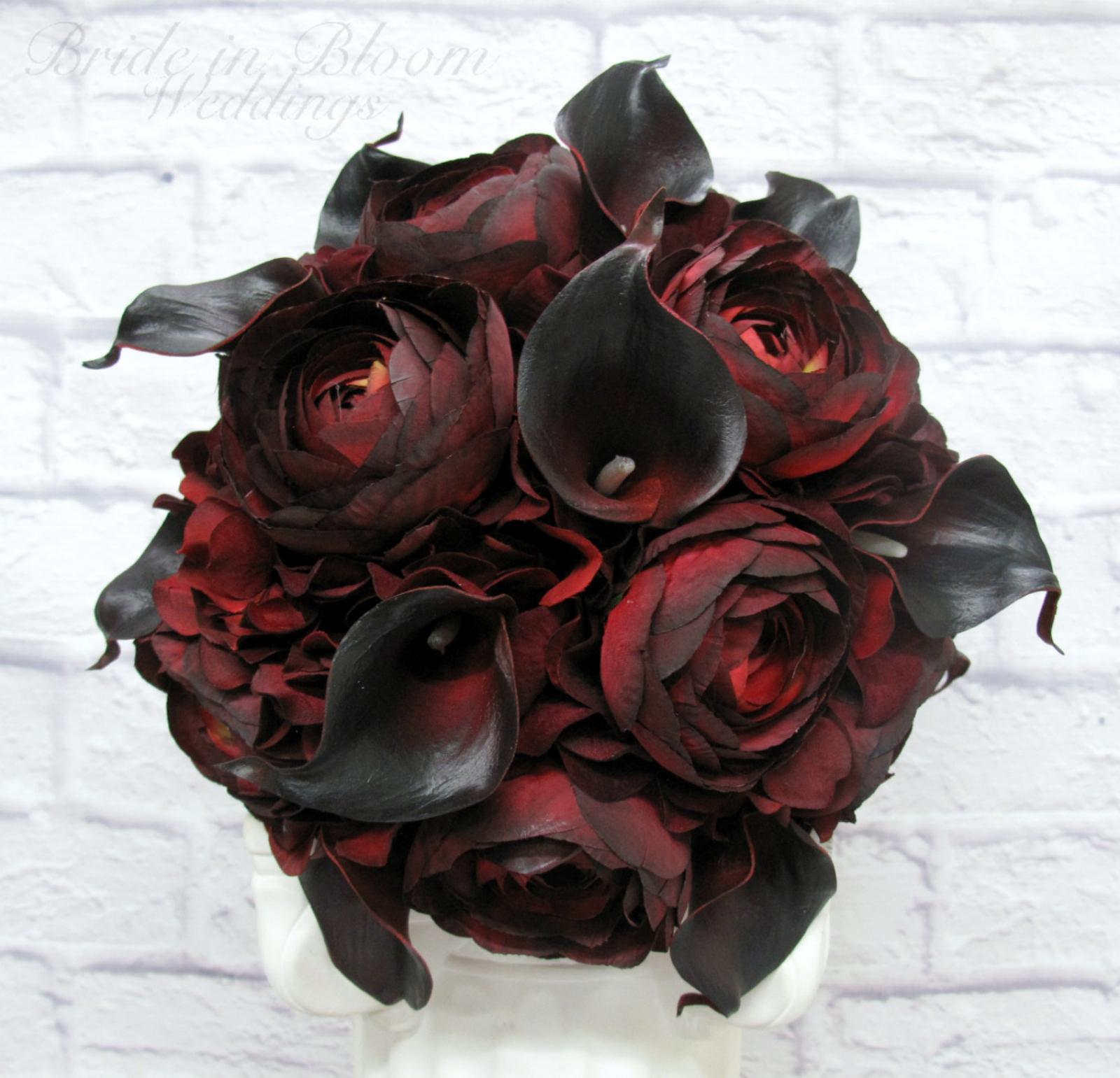Black Wedding Flowers: Red Black Wedding Bouquet