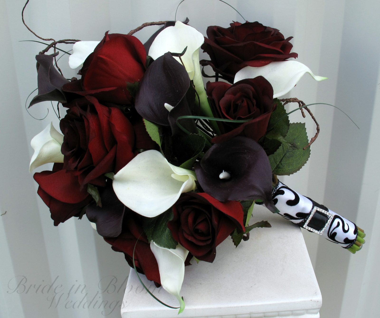 Rose Calla Lily Wedding Bouquet Bride In Bloom