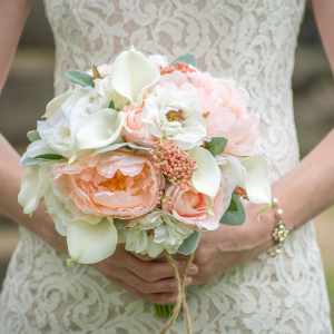 Peach & Cream Wedding Bouquet