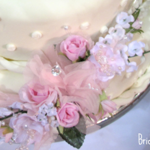 Pink sweetheart rose cake topper