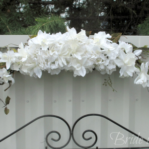 White orchid arch swag