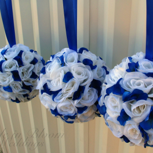 White royal blue pomanders