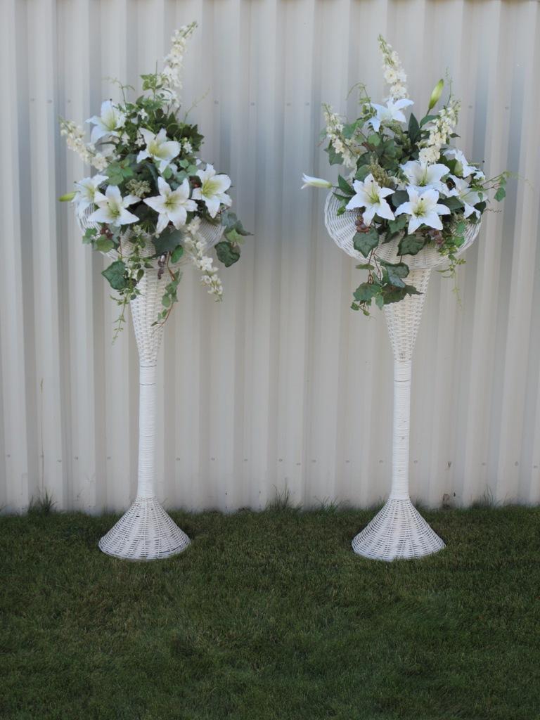 Tall Flower Wicker Basket Arrangements Bride In Bloom